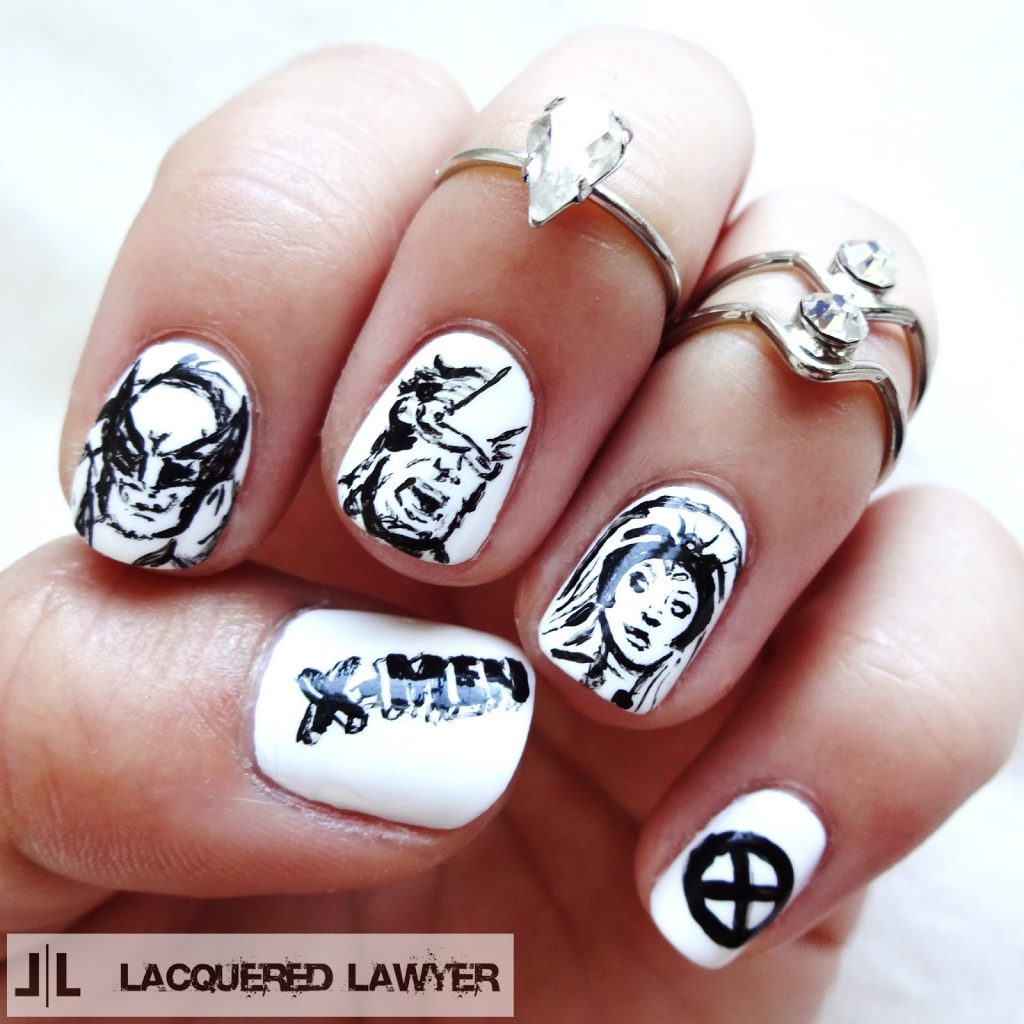 20 marvel superhero nail art to indulge in fantasy wolverine is the most favorite character in the x men series you can illustrate some mutant characters on your nails keeping the wolverine in the central prinsesfo Image collections