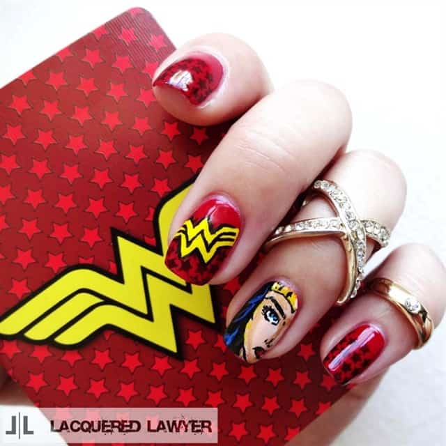 wonder women nail decals