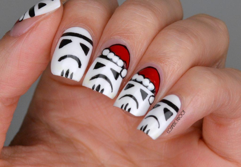 Stormtrooper Christmas Nail Art