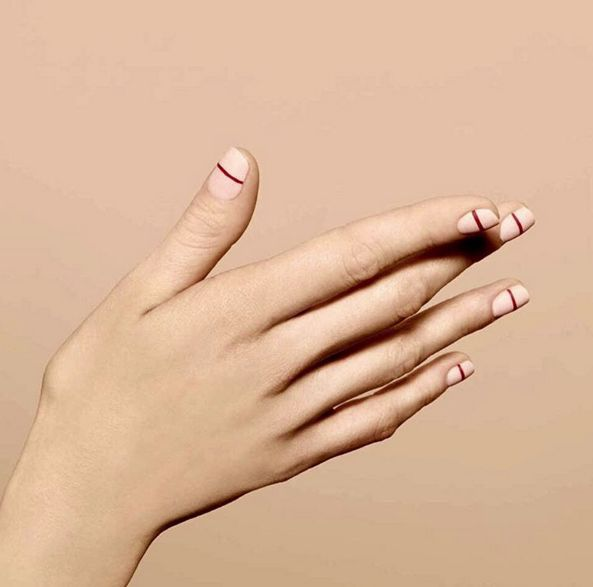 Drawing Lines On Nails : Magical minimalist nail art to design more with less