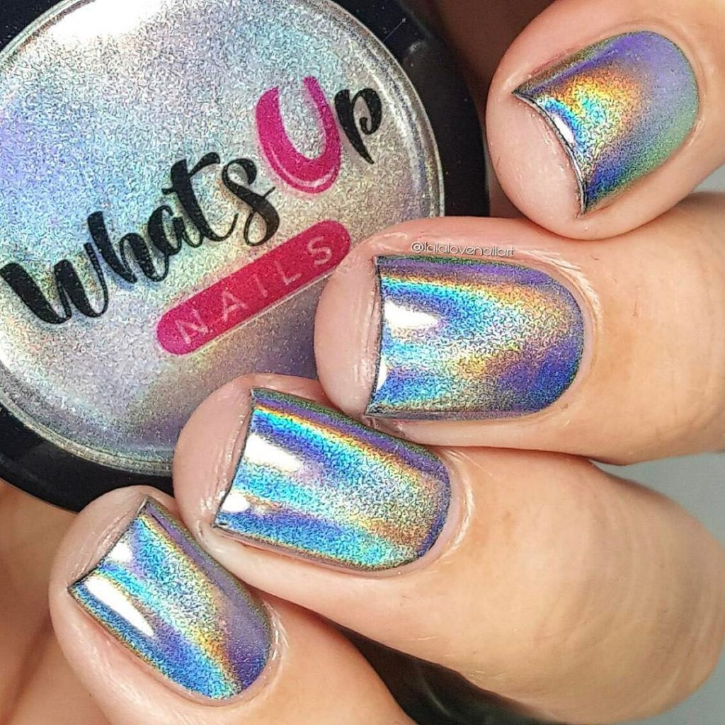 colorful Holographic Nails