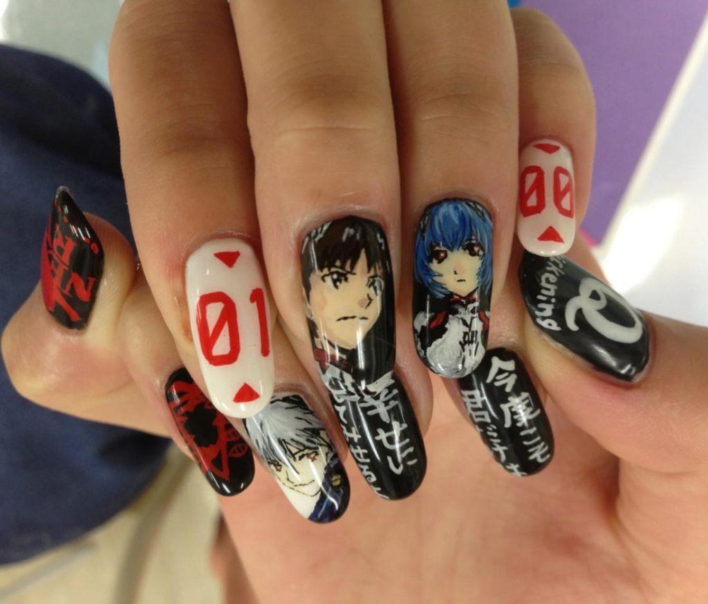 Japanese Anime Nail Art