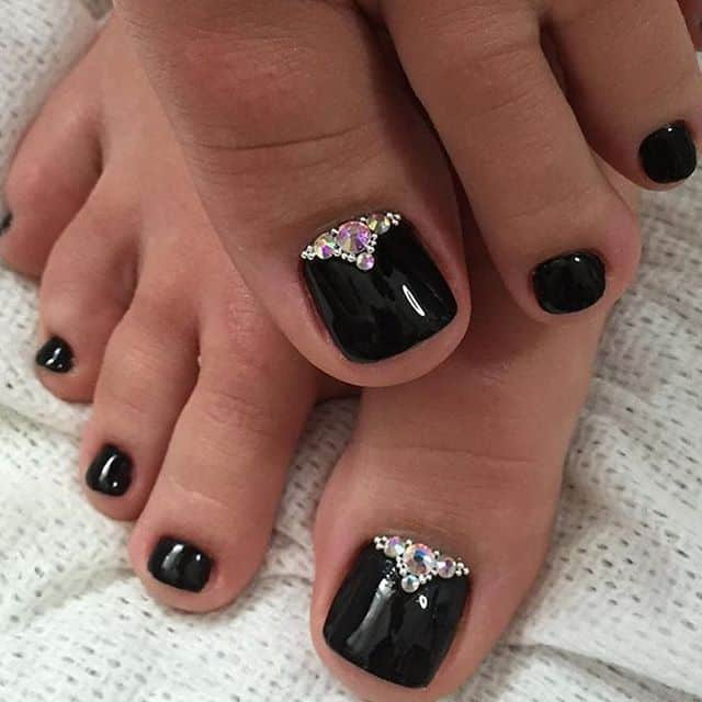 Black Toenails For Prom