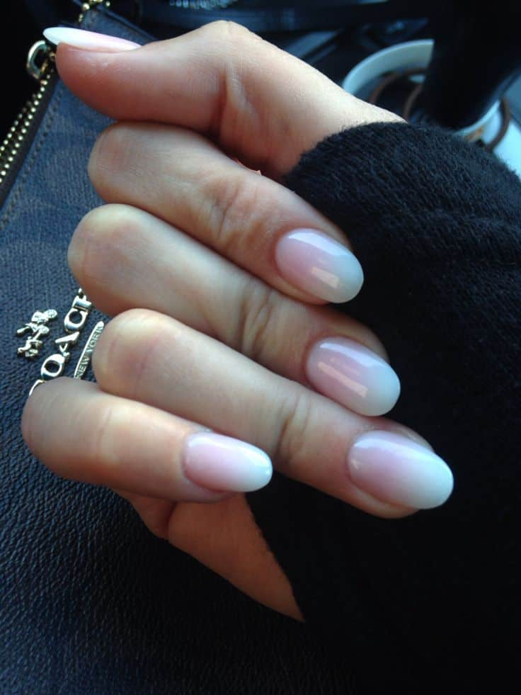 rounded oval nail design - 70 Oval Shaped Acrylic Nail Designs For Nail Lovers