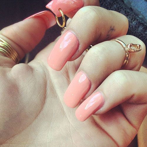 This Is A Simple Peach Nail Design Pierce Your Nails And Hang Small Ring On The Whole There Are Diffe Types Of Piercing Rings