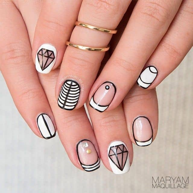 Jewel nail design for teens - 15 Trendy Nail Designs For Teens To Rock 2018 – NailDesignCode