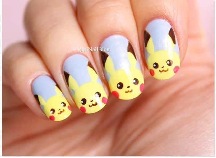 pikacho nail art