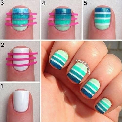 how to do striping tape nail art