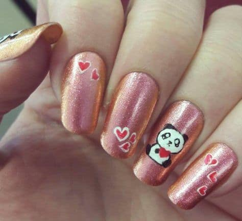 Panda nail designs 21 cutest ideas for 2018 naildesigncode love for pandas prinsesfo Images