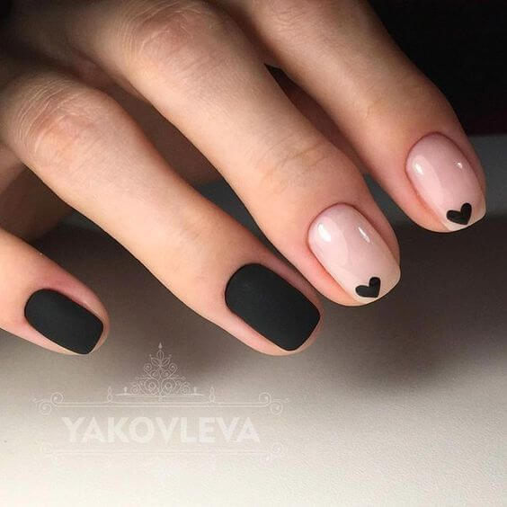 simple heart nail ideas for prom
