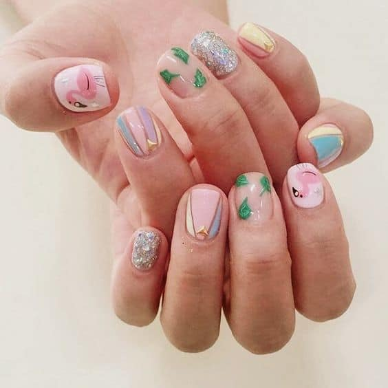 traditional korean nail design
