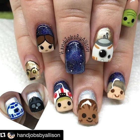 Star wars characters nail decals