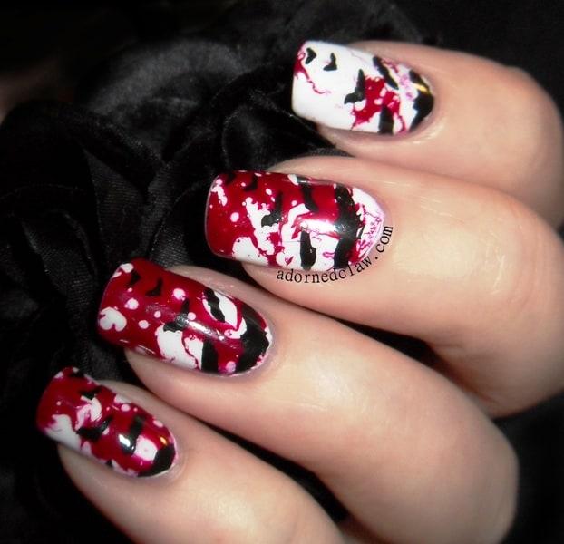 Halloween ghost nail art