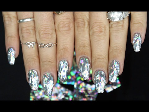 diamond holographic nail