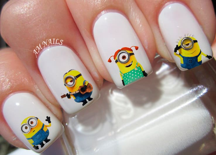 Minion Nail Art Decals