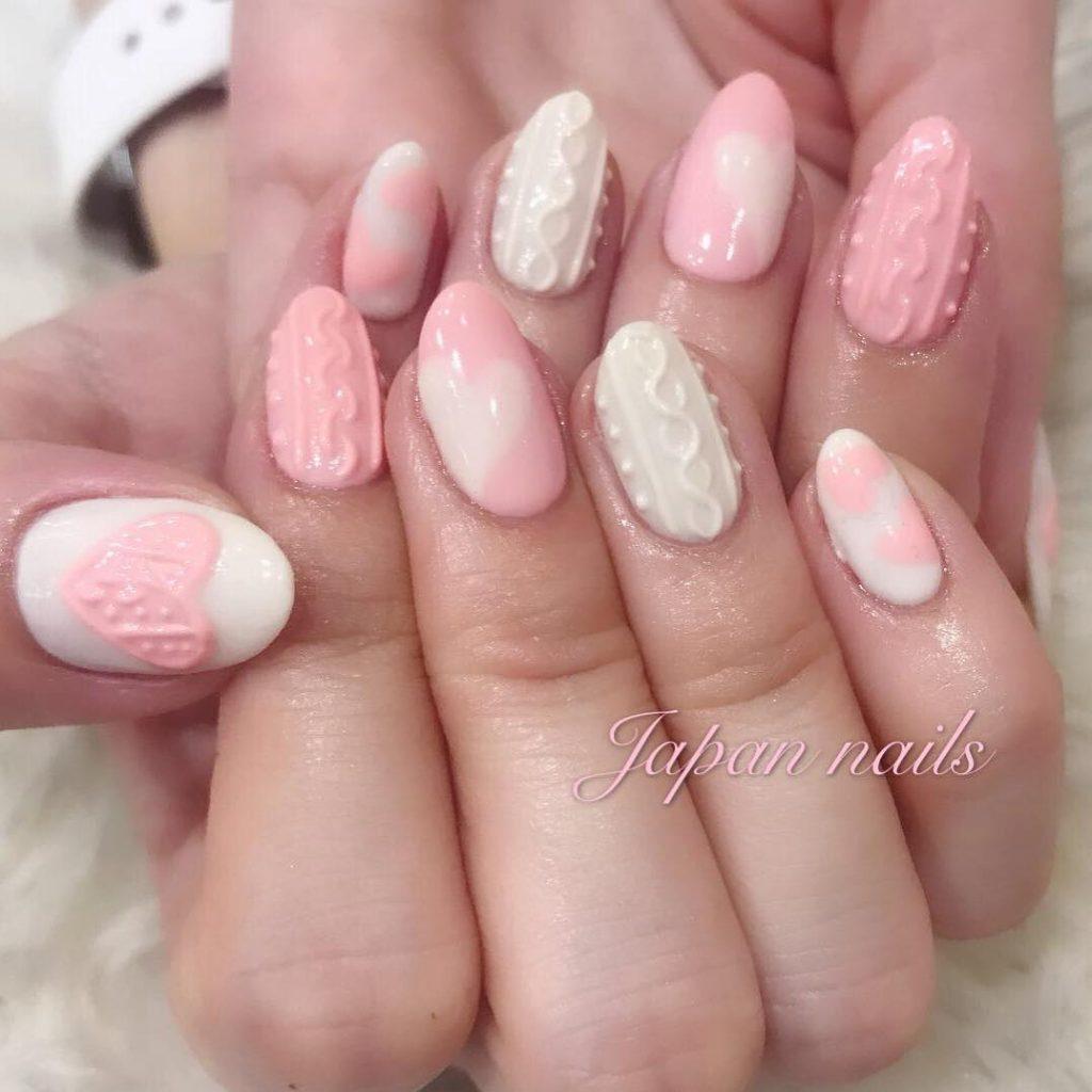 Pink japanese nails