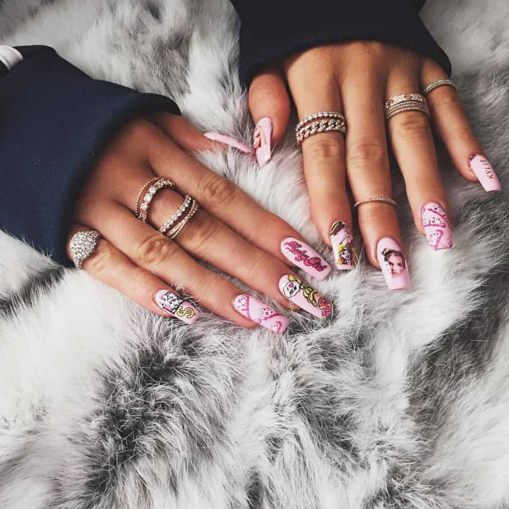 Kylie jenner's fun Nails