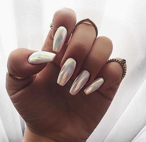 Metallic Nail on Dark Skins