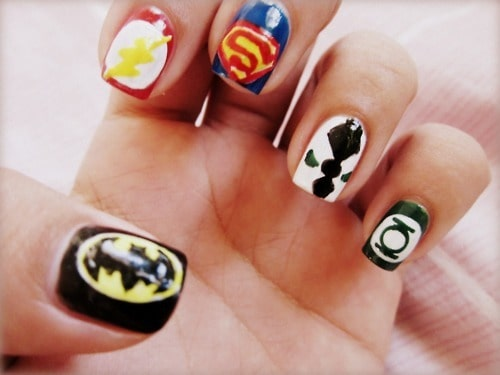 superhero nail designs