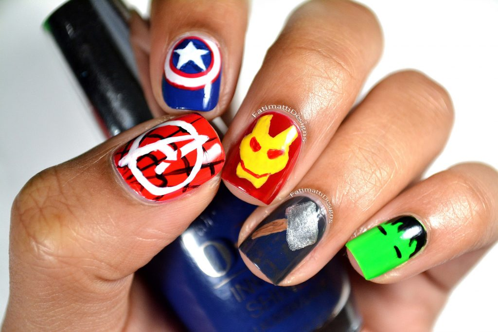 20 marvel superhero nail art to indulge in fantasy avengers nail art prinsesfo Gallery