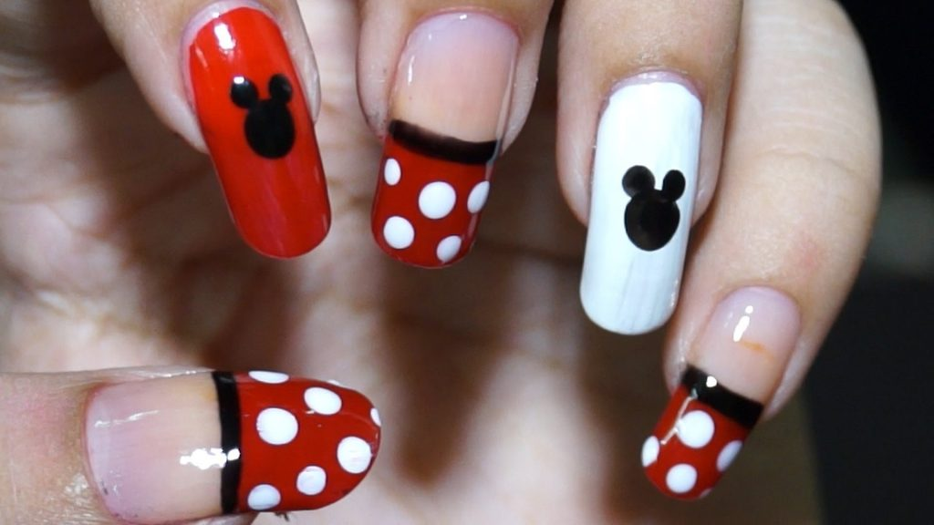 mickey and Minnie nail design for teens
