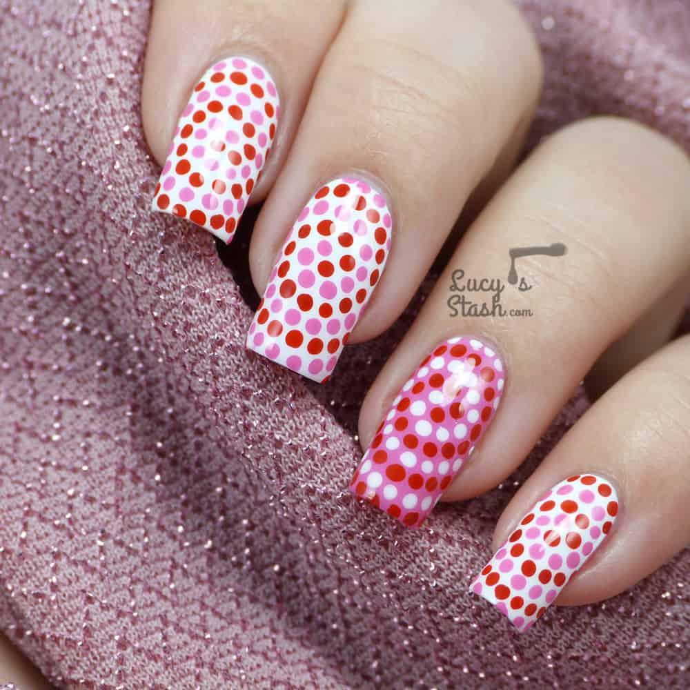 polka dot swirl nail art