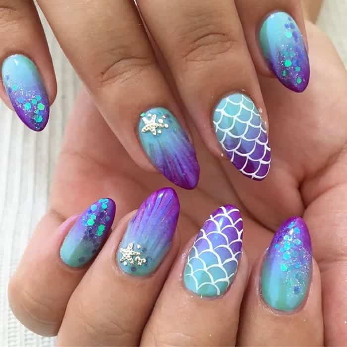 Ombre Vacation Nails