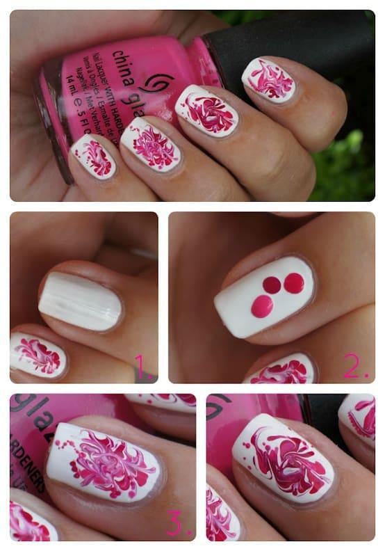 step by step swirl nail art