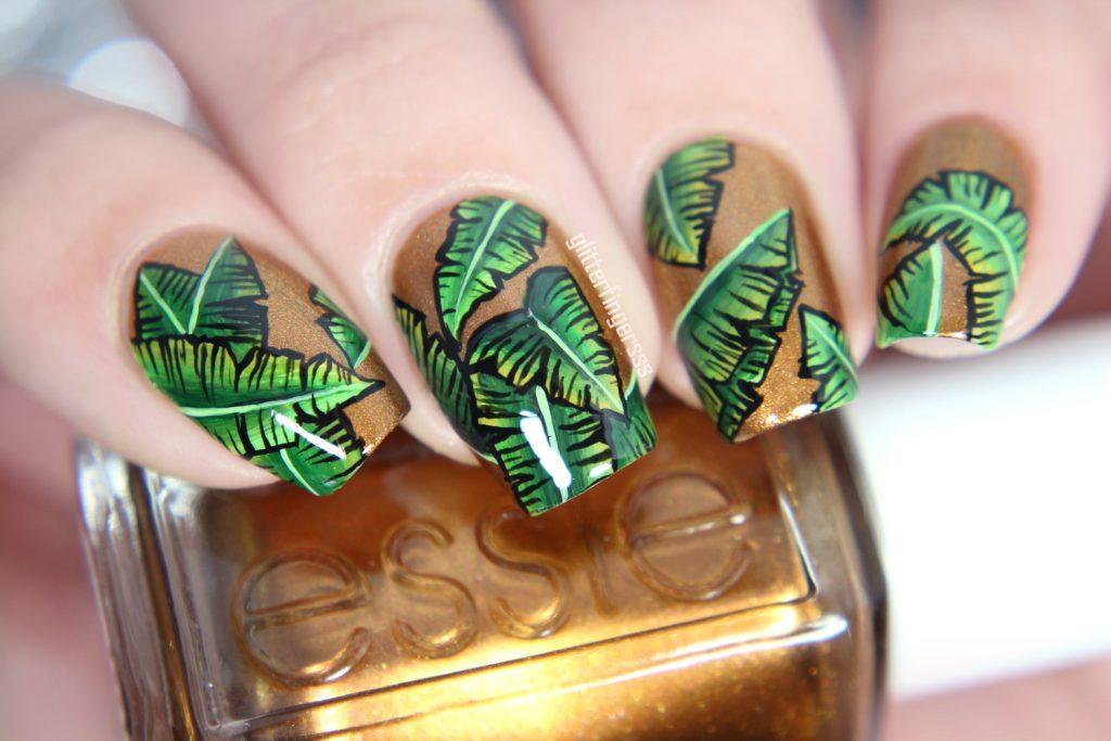 Palm Leaves Tropical Nail Art