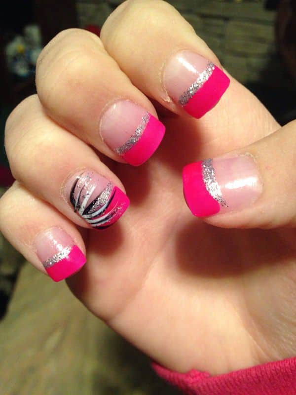 Prom Nails for Pink Dress