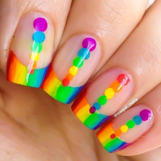 Colorful Nail Designs: 40 Vibrant Rainbow Nail Designs To Celebrate Life