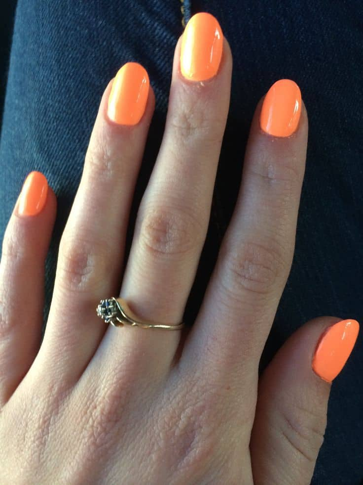 oval shaped neon acrylic nail designs