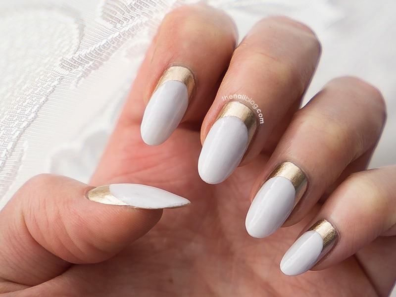 long oval shaped nail design