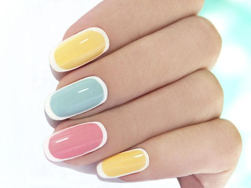 15 Peaceful Pastel Pink And Yellow Nails For 2018 Naildesigncode