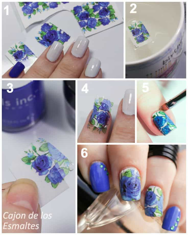 Nail Art Decals Step by Step