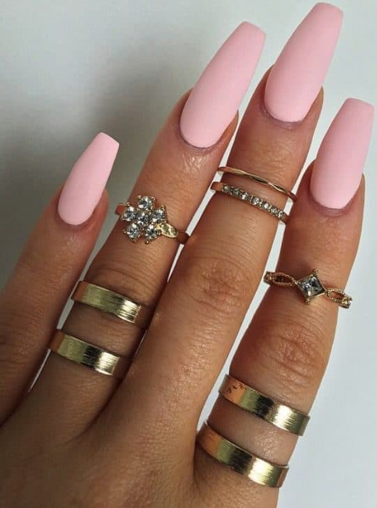 Light Pink Nails Coffin