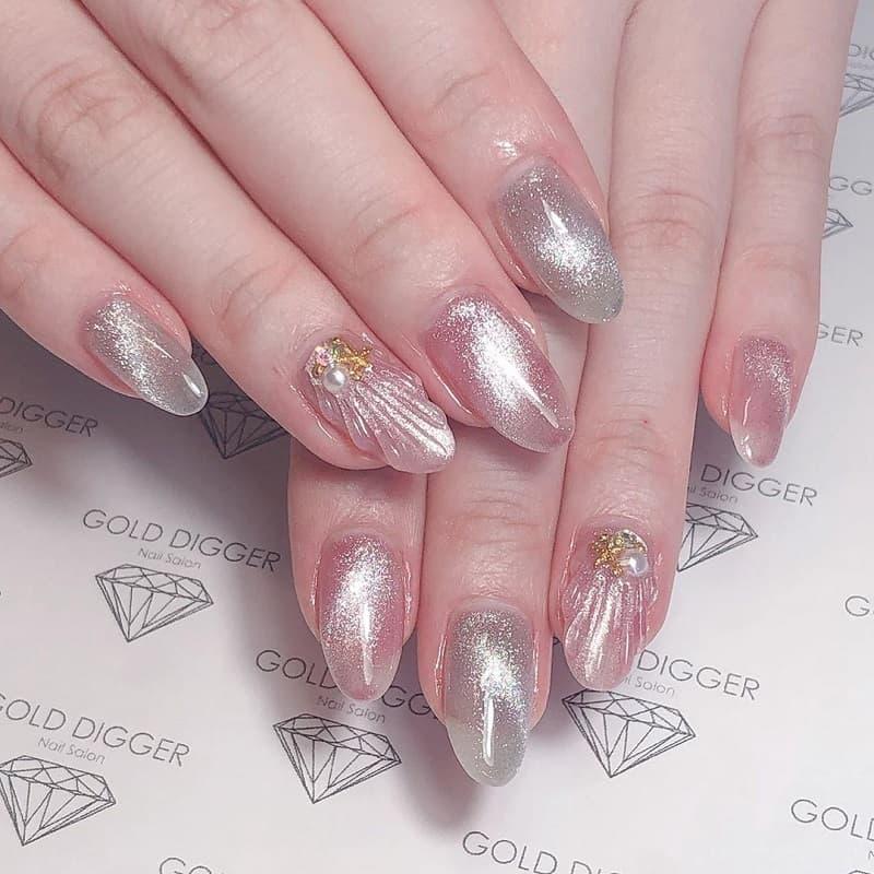 japanese glitter nail art