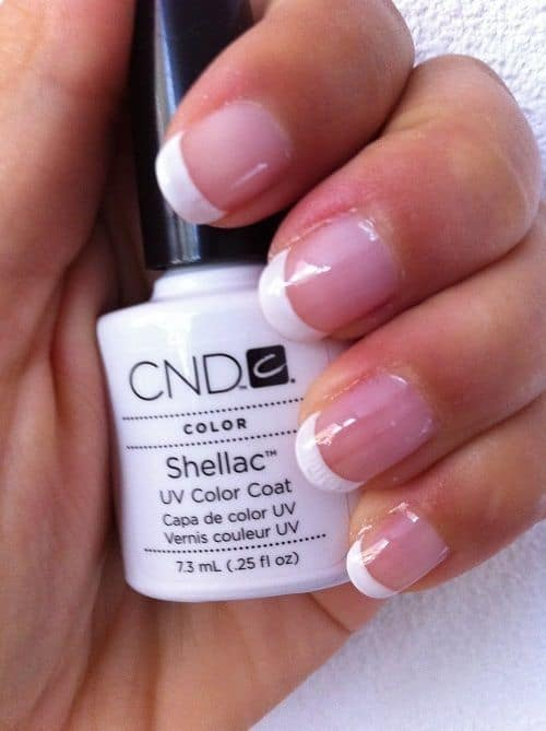 Shellac Nails White Tip