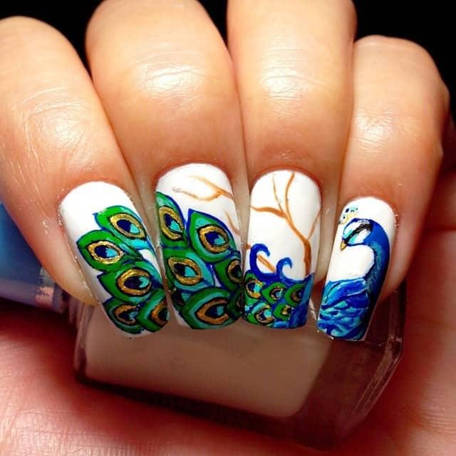 Peacock Nail idea