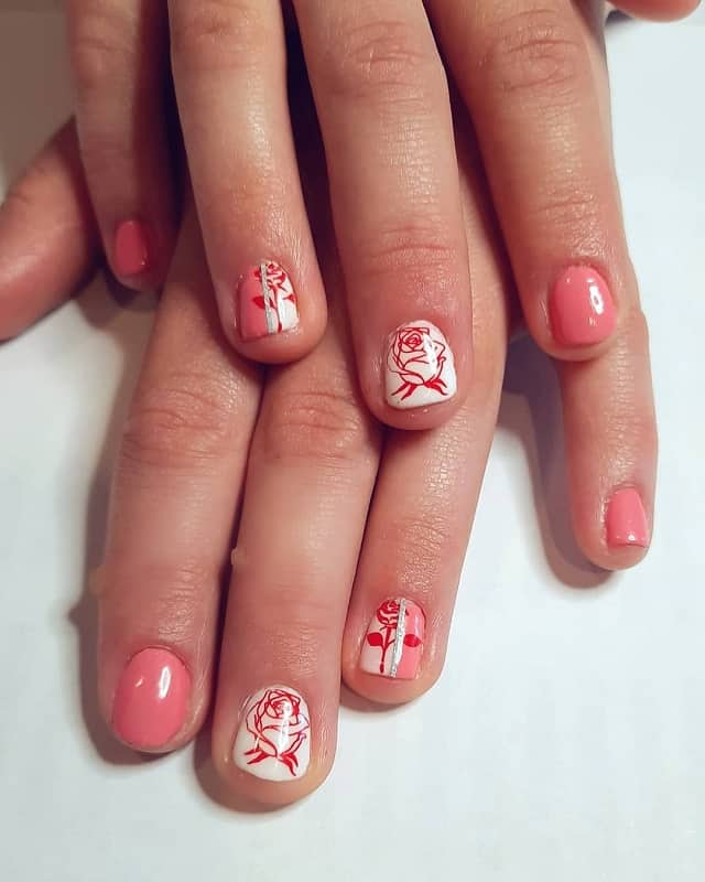 rose nail art stickers