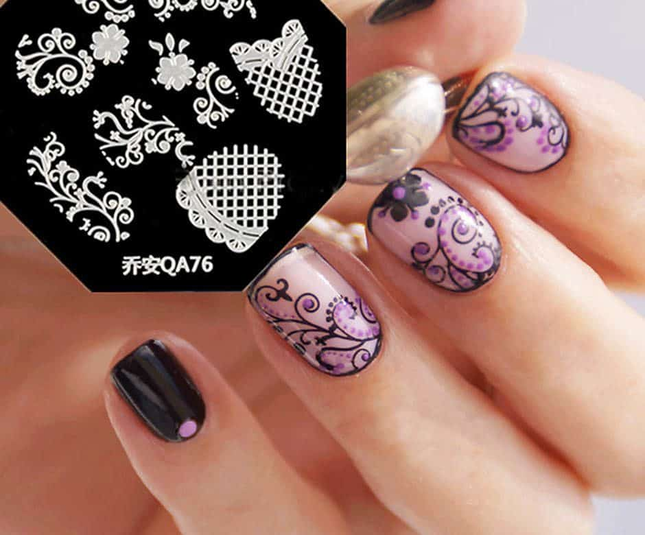 Floral Designs Nail Art Stamp
