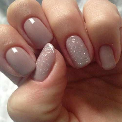 25 sensational nude nail designs to embrace simplicity if you want to have glossy and glowing nude nail designs you can mix some glitters with the nude color then apply it to the nails prinsesfo Choice Image
