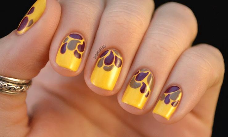 Yellow Nail Designs for Short Nails