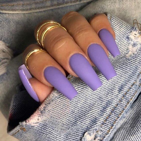 Matte coffin nails design