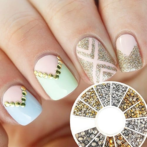 chevron stud nails
