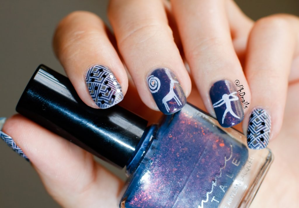 Deer Hunter Stamping Nail Art