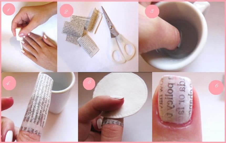 How to Do Newspaper Nail Art