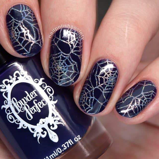Halloween's Spider design Stamp on Nails