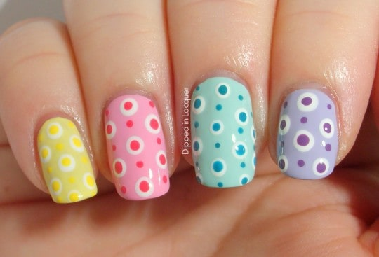 Trendy Mixed Pastel Colors with Polka Dots
