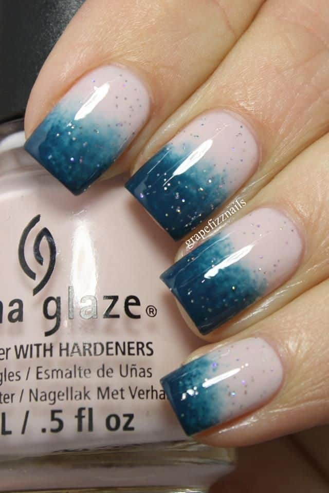 Ombre Two tone Nails